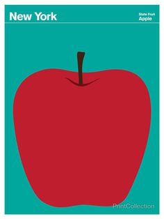 New York #apple #seafoam #red #fruit #state