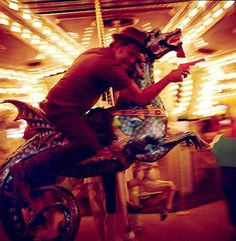 Tom Waits – Danny Clinch #carousel #danny #blur #tom #clinch #light #waits