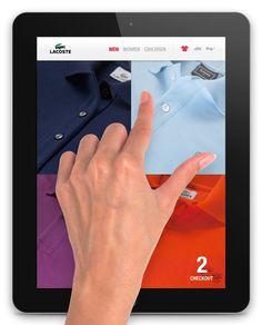 Lacoste iPad #ipad #ios #app