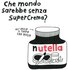 Nutella #illustration #drawing #nutella #food #kitchen #italy #chocolate