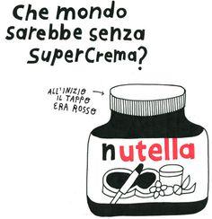 Nutella #illustration #drawing #nutella #food #kitchen #italy #chocolate