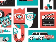 Dribbble - Kaleidoscope Icons by Javier Garcia #garcia #javier