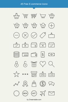45 Free Vector Outline Ecommerce Icons
