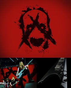 personal, skull, band, music, metal, A, Absolved of Silence, red, black
