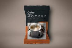 Elegant Coffee Package Mockup