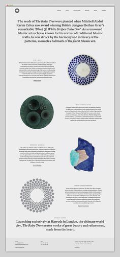 The ruby tree collection #website #digital #grid #web