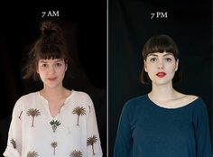 7AM-7PM Portrait Series by Barbara Iweins