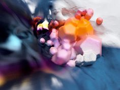 C A T K #form #explosion #color #blue #still #3d #life
