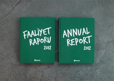 Garanti Bank 2012 Annual Report #graphic design #book #annual report #information design #istanbul