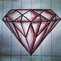The prototype diamond for Project Diamond #blood #project #diamond #prototype #drawing