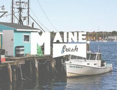DESIGN- Maine Fresh #fresh #design #graphic #fish #maine #poster #logo
