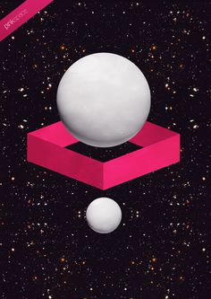 S.P.A.C.E on Behance #print #illustrator #shapes #colours #black #space #art #fine