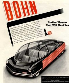 Bohn's 'Visions of the Future' Ads, 1940s | Retronaut #ads #40s #retro future