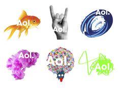 AOL logos.jpg (3000×2220) #olins #wolff