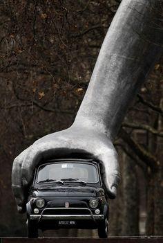 Vroom Vroom by Lorenzo Quinn -- Autoblog #sculpture