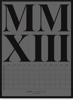 Calendar Poster — Large and small— Grey #type #poster
