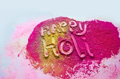 Happy Holi #text #colours #greeting #indian festival #dry colours