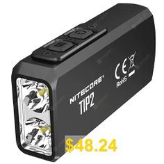 Nitecore #TIP2 #720lm #Dual-core #Magnetic #Keychain #Flashlight #- #BLACK
