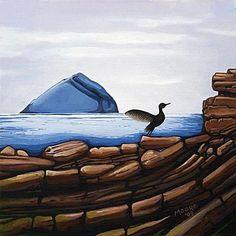 kildonan.jpg 500×500 pixels #arran #acrylic #kildonan #bird #island #rocks #painting #clyde #scotland #canvas
