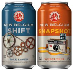 New Belgium Cans #beer #packaging