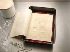 edible book #lasagna #book #food #type #typography
