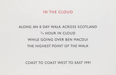Richard Long, 'In the Cloud' 1991; Screenprint on paper