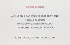 Richard Long, 'In the Cloud' 1991; Screenprint on paper