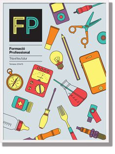 Professional Education Campaign, Terrassa 2014 #fp #terrassa #design #layout #illustrations #formacioprofessional #education #identity #txellgracia