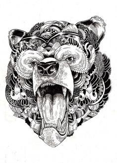 fe9f1b503438364a59e617306095fcad.jpg 572×800 pixels #iain #shapes #illustration #nature #geoetric #macarthur #animal