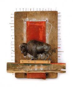 bonesandall #buffalo #assemblage #illustration #design
