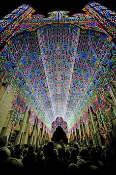 A Cathedral Made from 55,000 LED Lights #light #installation