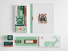 Graphic-ExchanGE - a selection of graphic projects #print #vintage #business card #ace #stationery