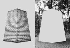 #collage Sol LeWitt (six sided tower / Kröller-Müller-Museum) Netherlands PHOTOGRAPHIE © [ catrin mackowski ]
