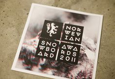 Norwegian Snowboard Awards 2011 on Behance #anaglyph #3d #typography