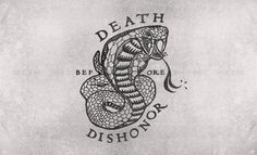 Death/Dishonor #type #illustration #art