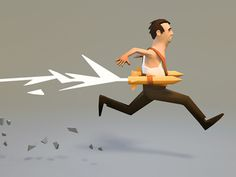 1110_augmented_runner_low_res #illustration #low #poly