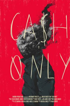 Cash Only Poster Design
