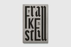 Frankenstein, book cover #cover #editorial #print #book