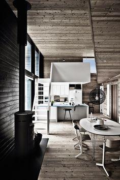 Grey Wooden Summer House in Denmark – Fubiz™ #interior #design #decor #architecture #deco #decoration