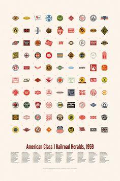 American Class I Railroad Heralds, 1959 #railroad #american #amtrak