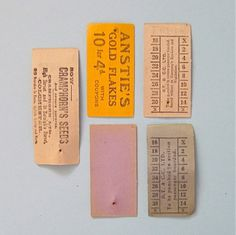 Vintage Paper Bus Tickets from the UK Transportation Ephemera for Scrapbooking Crafts Art Mixed Media Collage Collectible Supplies