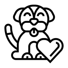 See more icon inspiration related to dog, pet, animal, love, canine, charity, puppy, heart and animals on Flaticon.