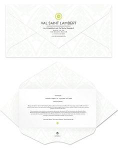 VAL SAINT LAMBERT on the Behance Network #envelopes #custom