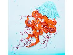 Jellyfish #illustration #paper
