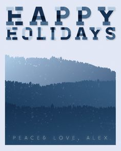 my first stab at christmas cards #card #snow #christmas #holiday #mountains