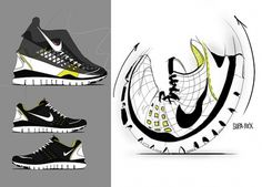 Nike Free TR Fit on the Behance Network #illustration #design #shoes #concept