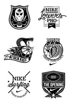 Justin Poulter #logo #nike #b&w