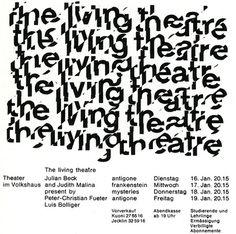 The Living Theatre | Shiro to Kuro #white #black #grid #poster #and #typography