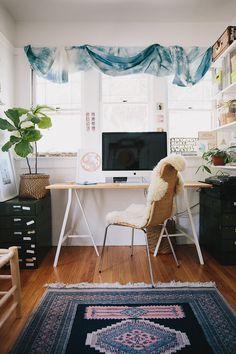 Bright, Bohemian Home Office