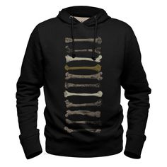 #bones #black #hoodie #sweatshirt #bobettinger #bone #evolution #darwin